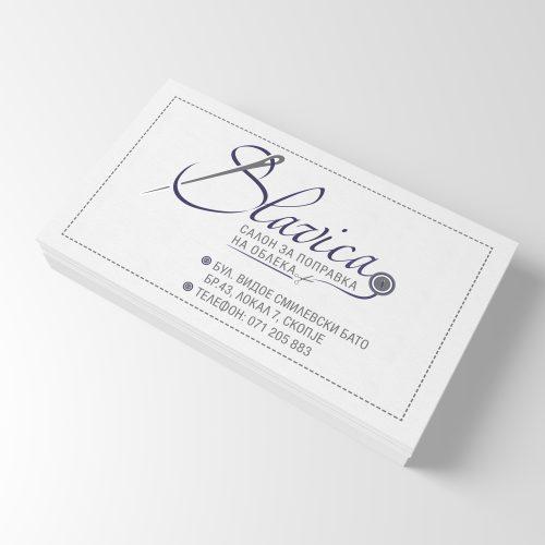 Визитни картички за шивашко ателие